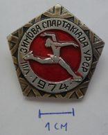 USSR Figure Skating - Soviet Sport SPARTAKIADA 1974  PINS BADGES PLAS - Skating (Figure)