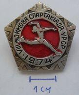 USSR Figure Skating, Racing Skates - Soviet Sport SPARTAKIADA 1974  PINS BADGES PLAS - Skating (Figure)