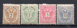 AUSTRIA  1883 , MH , Perforation 10 1/2 , 10 1/2 ,  10 , 10 1/2 - 1850-1918 Empire