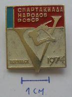 USSR Figure Skating, Racing Skates SPARTAKIADA 1974 - Soviet Sport   PINS BADGES PLAS - Skating (Figure)