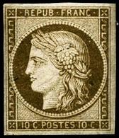 ** N°1 10c Bistre - TB - France