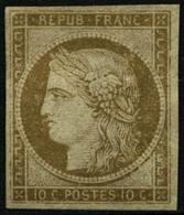 (*) N°1 10c Bistre - TB - France
