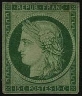 (*) N°2 15c Vert, NSG Signé Brun - TB - France