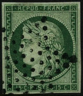 Oblit. N°2 15c Vert - TB - France