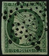 Oblit. N°2 15c Vert Au Filet En Haut  - TB - France