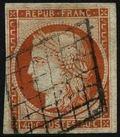 Oblit. N°5 40c Orange - TB - France