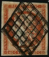Oblit. N°5 40c Orange - B - France