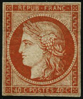 * N°5a 40c Orange Vif, Petites Marges Fraicheur Postale - B - France