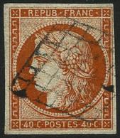 Oblit. N°5a 40c Orange Vif, Signé Calves - TB - France