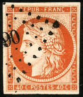 Oblit. N°5a 40c Orange Vif - TB - France
