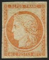 ** N°5g 40c Orange Réimp - TB - France