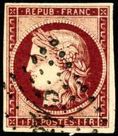 Oblit. N°6 1F  Carmin Foncé - TB - France