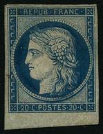** N°8F 20c Bleu, Réimp - TB - France