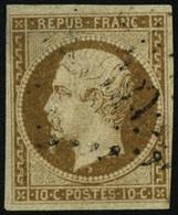 Oblit. N°9 10c Bistre - B - 1852 Louis-Napoleon
