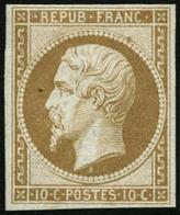 ** N°9e 10c Bistre Réimp - TB - 1852 Louis-Napoleon