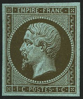 (*) N°11c 1c Mordoré - TB - 1853-1860 Napoleon III