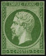 ** N°12 5c Vert, Petites Marges - B - 1853-1860 Napoleon III