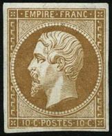 ** N°13A 10c Bistre, Type I - TB - 1853-1860 Napoleon III