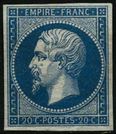 ** N°14A 20c Bleu, Type I - TB - 1853-1860 Napoleon III
