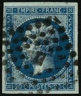 Oblit. N°14Ad 20c Bleu S/vert, Type I - TB - 1853-1860 Napoleon III