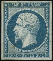 ** N°14Af 20c Bleu Laiteux - TB - 1853-1860 Napoleon III