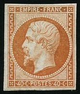 ** N°16 40c Orange, Signé Brun - TB - 1853-1860 Napoleon III