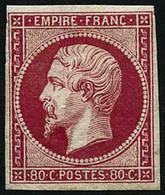 ** N°17A 80c Carmin, Signé Calves Et Brun - TB - 1853-1860 Napoleon III