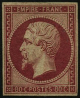 ** N°17B 80c Rose - TB - 1853-1860 Napoleon III