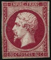 ** N°17B 80c Rose, Petites Marges - B - 1853-1860 Napoleon III