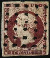Oblit. N°18 1F Carmin Au Filet En Bas à Droite - B - 1853-1860 Napoleon III