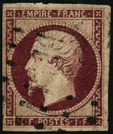 Oblit. N°18a 1F Carmin Foncé - TB - 1853-1860 Napoleon III