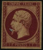 ** N°18d 1F Carmin, Réimp - TB - 1853-1860 Napoleon III