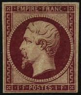 ** N°18d 1F Carmin, Réimp - B - 1853-1860 Napoleon III