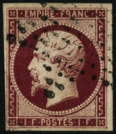 Oblit. N°18g 1F Velours - TB - 1853-1860 Napoleon III