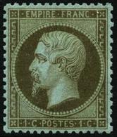 ** N°19 1c Olive, Pièce De Luxe Signé Brun - TB - 1862 Napoleon III