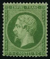 * N°20 5c Vert - TB - 1862 Napoleon III