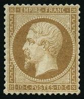 ** N°21 10c Bistre, Pièce De Luxe - TB - 1862 Napoleon III