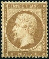 * N°21 10c Bistre, Très Bien Centré - TB - 1862 Napoleon III