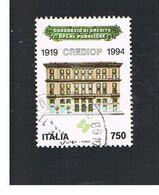 ITALIA REPUBBLICA  - UNIF. 2165       -   1994 CREDIOP    -            USATO - 6. 1946-.. Repubblica