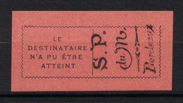 """TIMBRE De RETOUR N° 1 NEUF ** TTB POSTE DU MONTENEGRO """" Le Destinataire N'a Pas Pu Etre Atteint """" (1916) - Guerras"""
