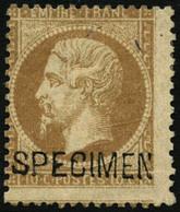 * N°21c 10c Bistre, Surchargé Spécimen - B - 1862 Napoleon III