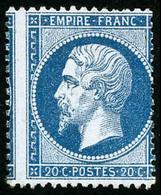 ** N°22 20c Bleu, Variété De Piquage  - TB - 1862 Napoleon III