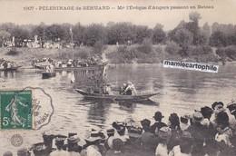 Pélerinage De BEHUARD - Maine Et Loire - Mgr L'Evêque D'Angers Passant En Bateau - Belle Animation - CPA - 1908 - France