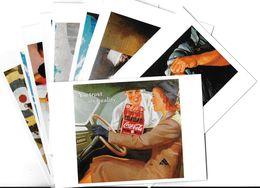Publicité Lot N°3 De 10 Cartes-COCA-COLA ART Ou PUBLICITE Rétrospective 20/12/95-27/2/96 CARROUSEL Du LOUVRE *PRIX FIXE - Publicité