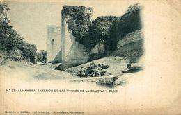 GRANADA - ALHAMBRA EXTERIOR DE LAS TORRES DE LA CAUTIVA Y CADID - Granada