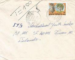 Congo 1984 Mossendjo Baobab Tree Taxed Cover - Congo - Brazzaville