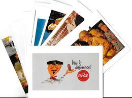 Publicité Lot N°4 De 10 Cartes-COCA-COLA ART Ou PUBLICITE Rétrospective 20/12/95-27/2/96 CARROUSEL Du LOUVRE *PRIX FIXE - Publicité