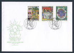 Liechtenstein 2000 FDC + Mi 1235 /7 ** EXPO 2000, Hannover - Umwelt Und Entwicklung - Paintings Hundertwasser - 2000 – Hanover (Germany)
