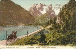 AK / CP Südtriol Dolomiten Dürrensee Cristallo Popena Kutsche Color ~1910 #30 - Ohne Zuordnung