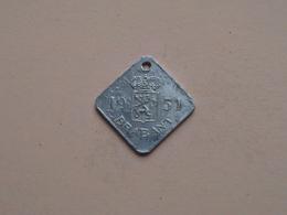 Belasting Op HONDEN BRABANT 1951 - 077894 / Belgique - België ( TOKEN For Dog / Chien TAX / For Detail, Zie Photo ) ! - Belgique